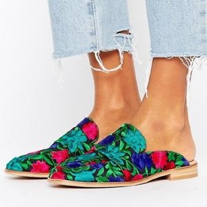 Free People Sz 38 At Ease Loafer Embroidered mules